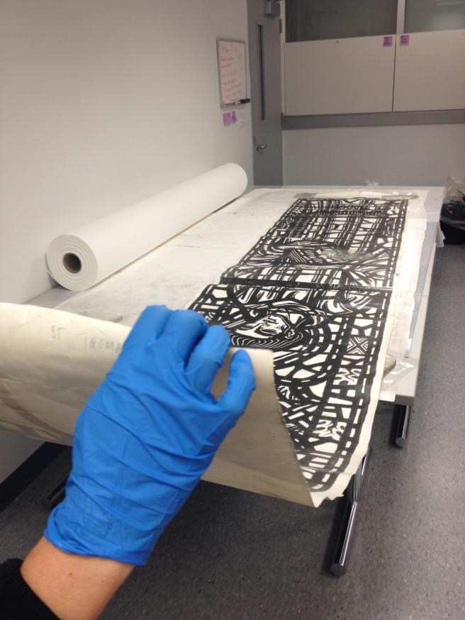 4 meter long silver gelatin print.